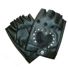 Black Gloves with Bling
