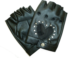 Black Gloves with Bling