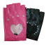 Black Pink Gloves with Bling